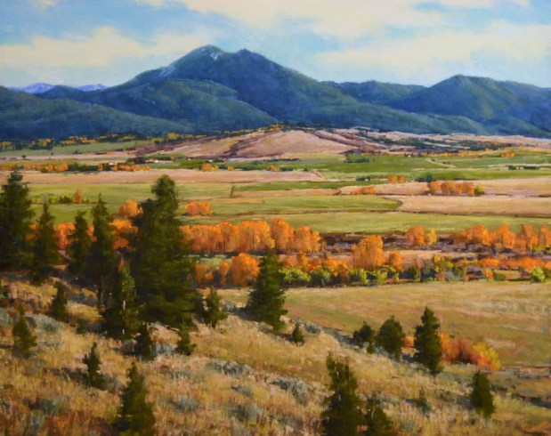 """Gallatin Valley in Gold"" 24x30, Pastel"
