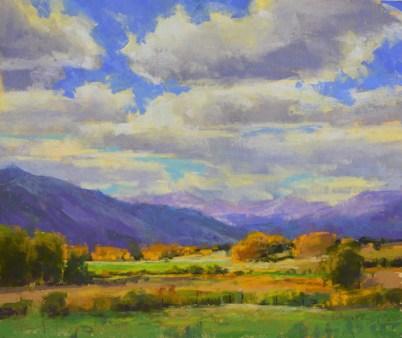 """Monarch Pass Clouds"" 11x14, pastel."