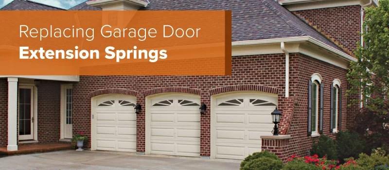 How To Replace Garage Door Extension Springs  Aarons