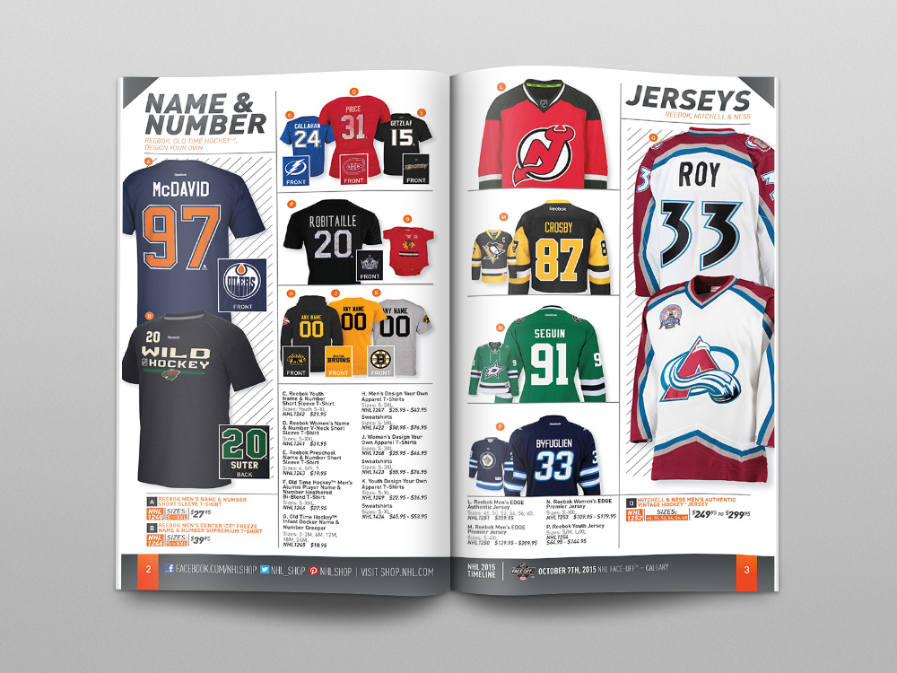 Shop.NHL.com Fall 2015 Catalog – Pages 02/03