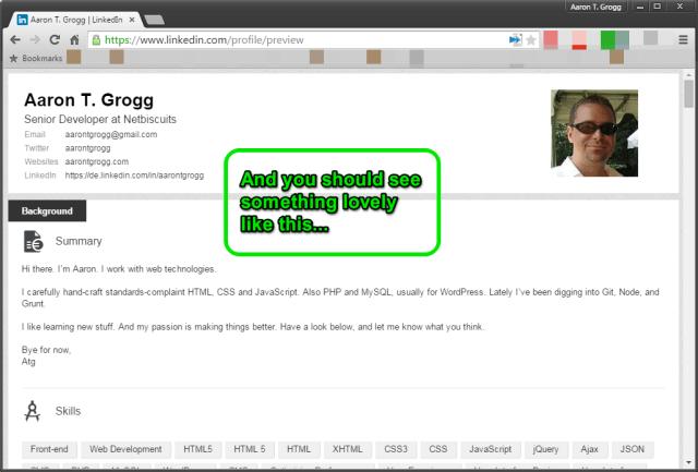 how to print a linkedin profile as a resume  the chrome