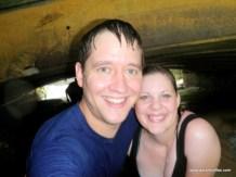 Aaron and Diane under the bridge