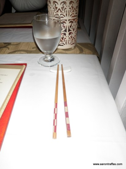 First restaurant where we've used chopsticks that weren't disposable