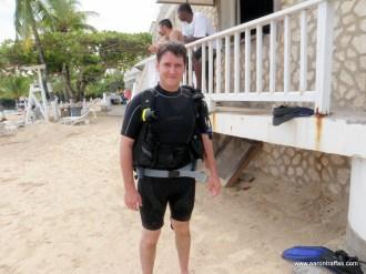 Aaron in the SCUBA gear