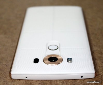 LG V10 showing buttons and rear camera