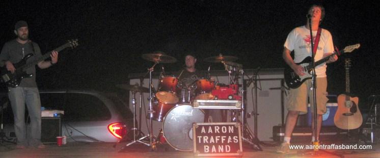 Aaron Traffas Band plays live ag rock music near Lawrence, Kansas