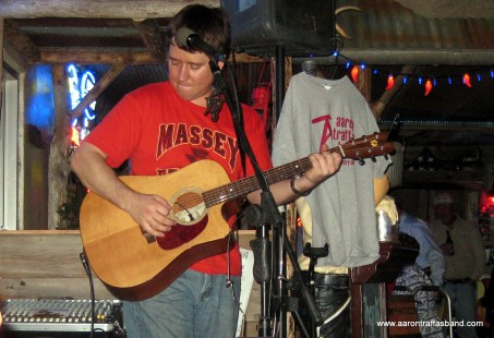 Aaron Traffas plays live ag rock music in Barber County