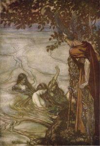 Rhindøtrene og Siegfried (Arthur Rackham)