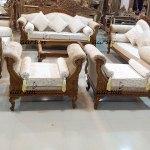 Royal Design Wooden Sofa Set For Living Room Furniture Yt 134