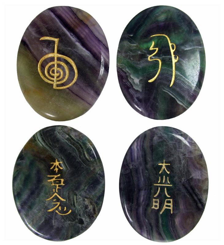 Fluorite Reiki Symbols by Lisa Gauvain at www.castastone.com