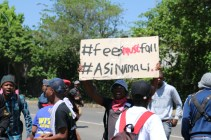 "Taken in week 4 of the protests, students did not back down from their call for free, quality, decolonised education, ""#FeesMustFall #Asinamali"" Photo: Aarti Bhana"