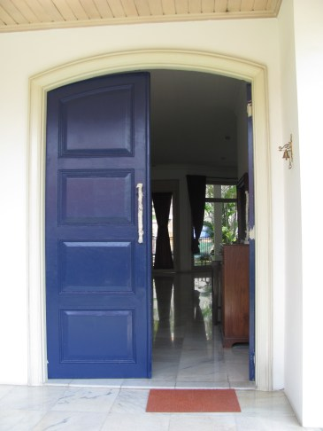 Painting the main door