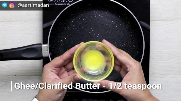PeanutChikki_Step2_add clarified butter