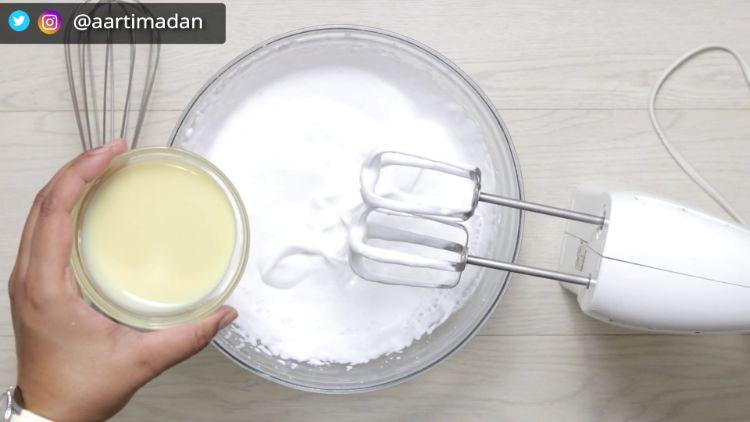 oreo ice cream recipe - step 5 - add condensed milk