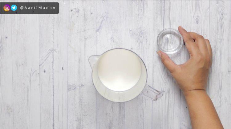 Making buttermilk for pancake recipe
