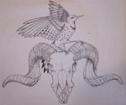 sketch for custom piece