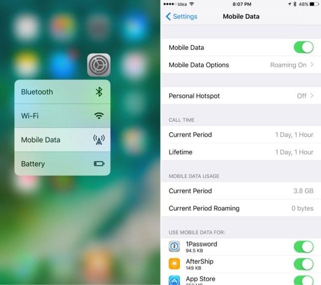 iphone 7 mobiele data