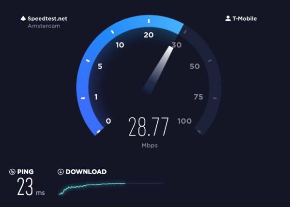 internet snelheid doormeten