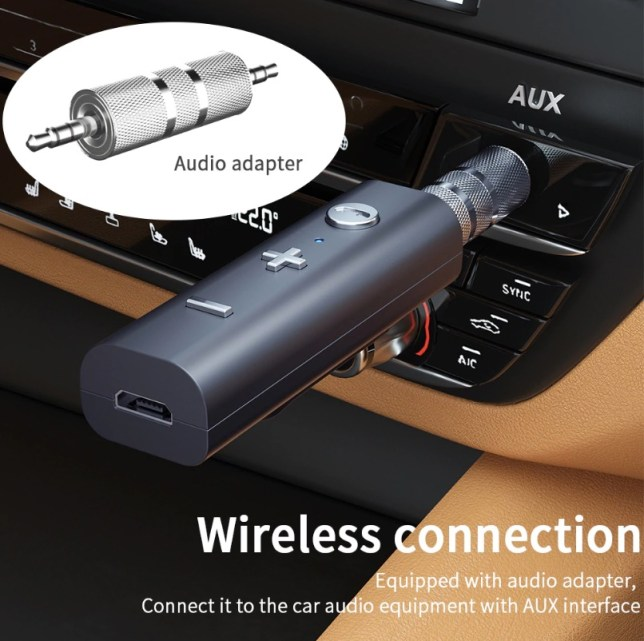 multipoint bluetooth clip car minijack