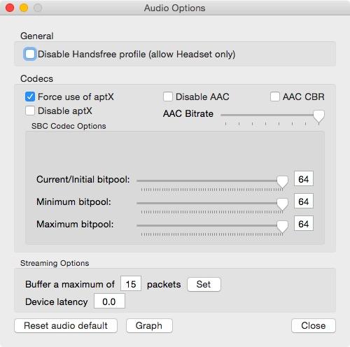 Bluetooth Mac geluidskwaliteit microfoon