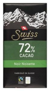 beste pure chocola met nootjes test Swiss 72%