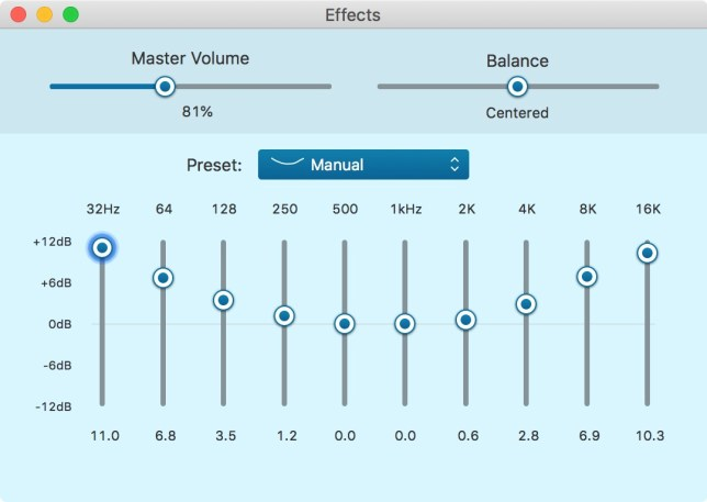 V-shape EQ in Airfoil