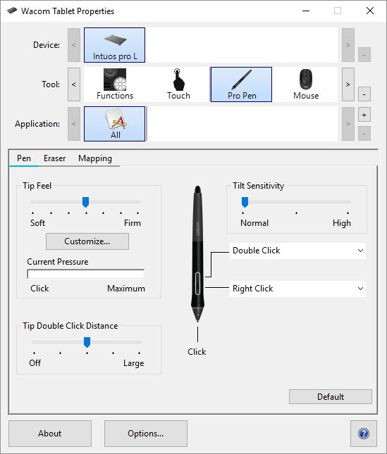 wacom tekentablet voorkeuren