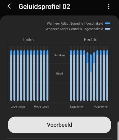 gehoortest geluidsprofiel geluidsinstelling Samsung Galaxy AKG