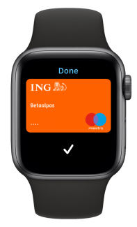 Apple Watch appel pay ING
