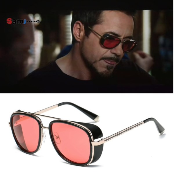 retro Vintage Iron Man Tony Stark zonnebril