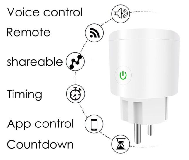 smart home wandcontactdoos wifi stopcontact