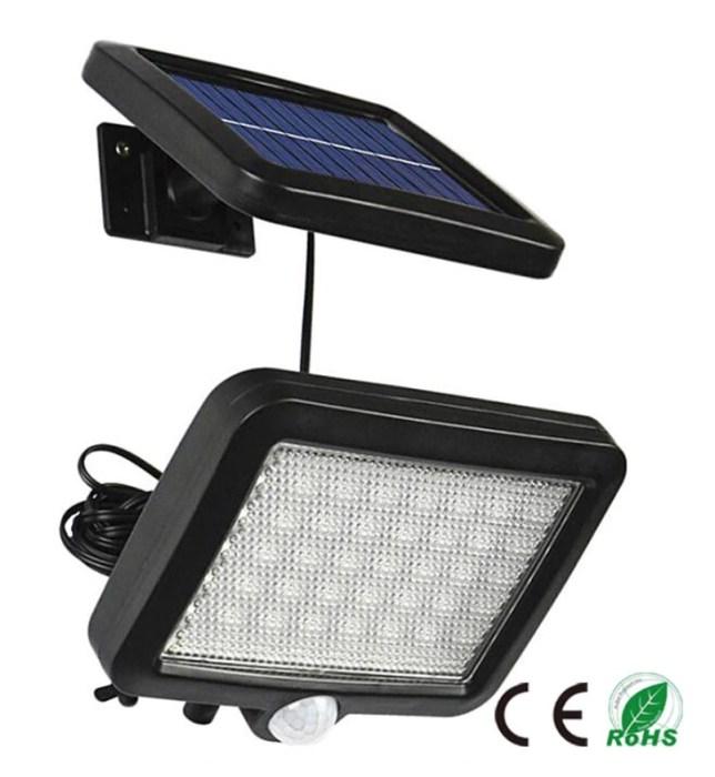 56 led plus zonnepaneel + accu + PIR sensor