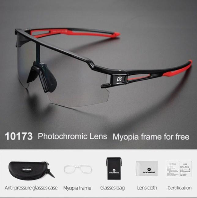 zonnebril met myopia frame meekleurend fotochromisch