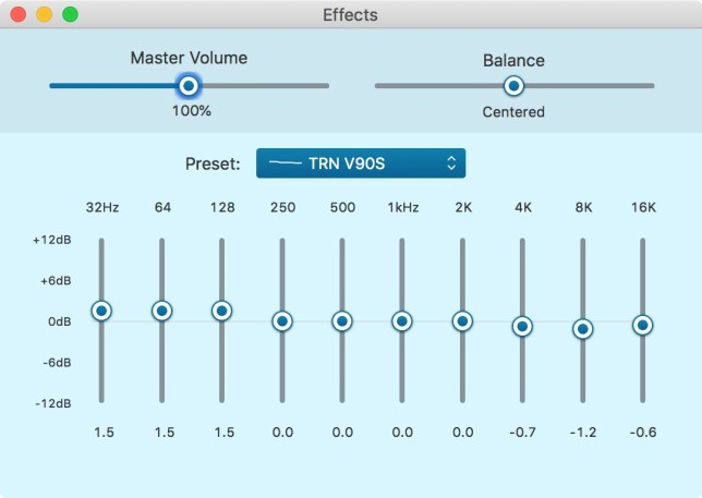 TRN V90S review EQ stand