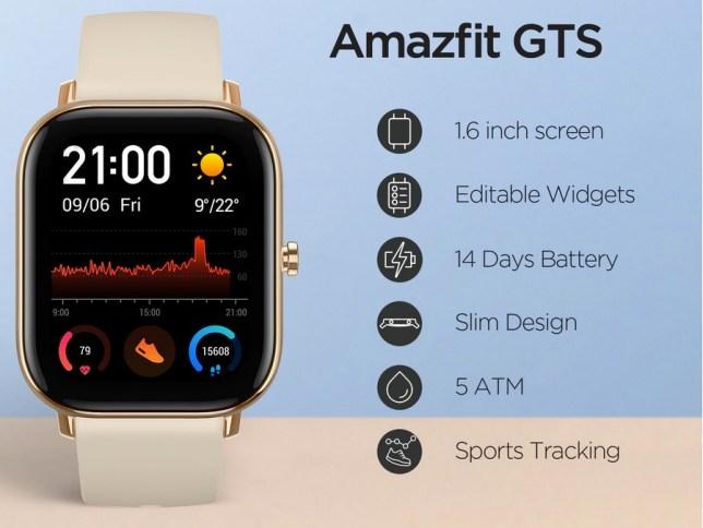 amazfit GTS smartwatch horloge