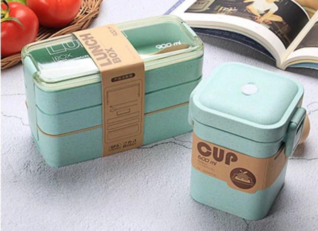 tupperware lunchbox magnetron drie delen waterdicht soep