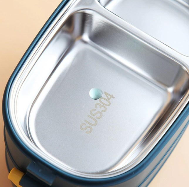 rvs luchbox bento box isolatie tupperware