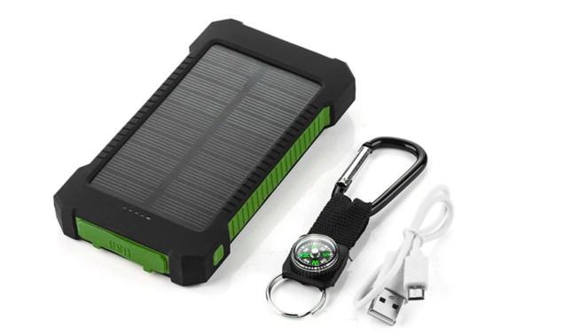 powerbank met zonnepaneel