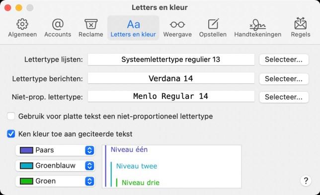 migreren M1 Mac Big sur Mail instellen