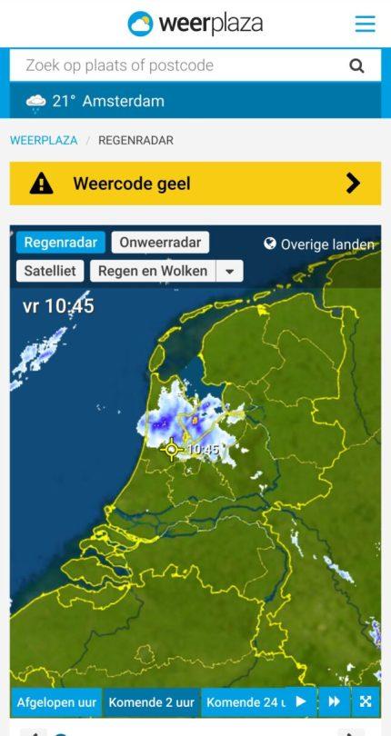 beste neerslagradar ios android weerplaza.nl