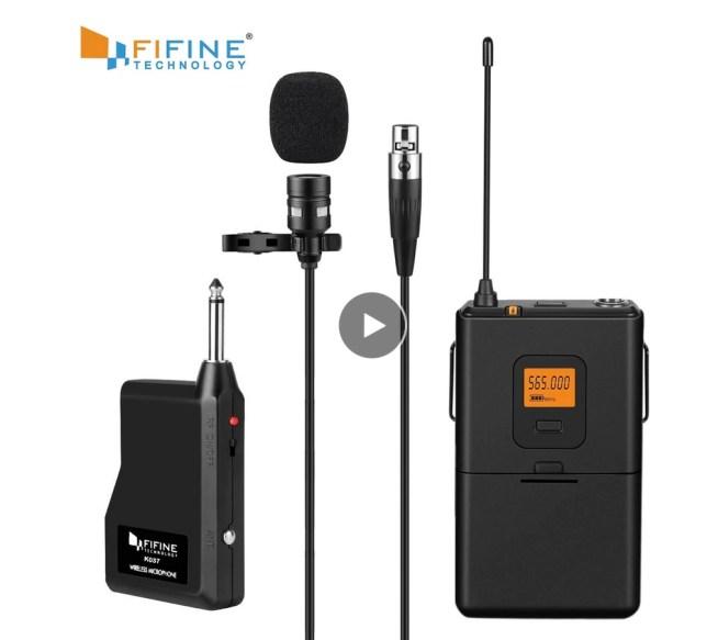 beste draadloze dasppeld microfoon lavalier UHF
