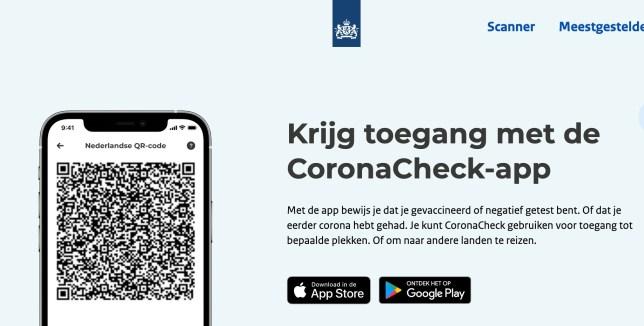 qr code coronacheck app