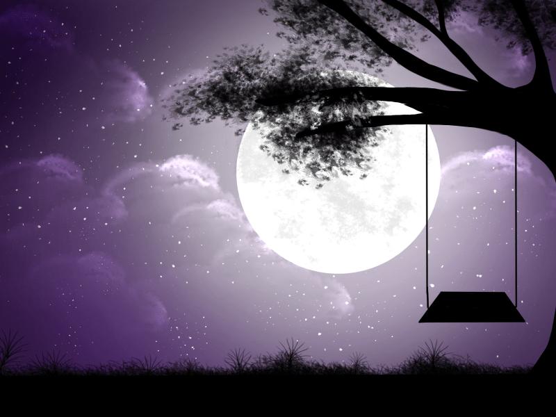 The Moon Digital Art