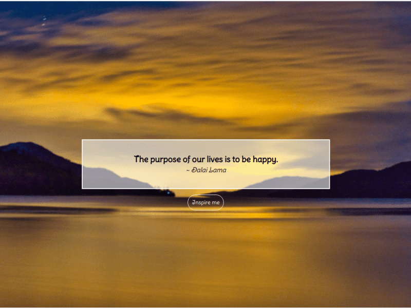 Web Dev Project 3: Random Quote Generator