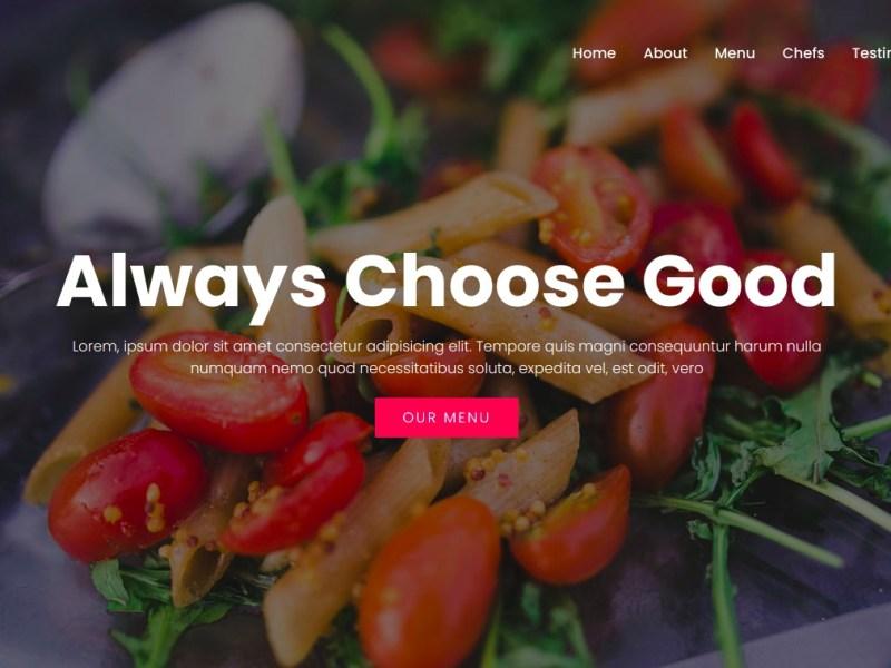 Web Dev Project 9: Restaurant Website