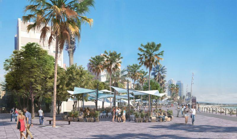 Barceloneta's terraces