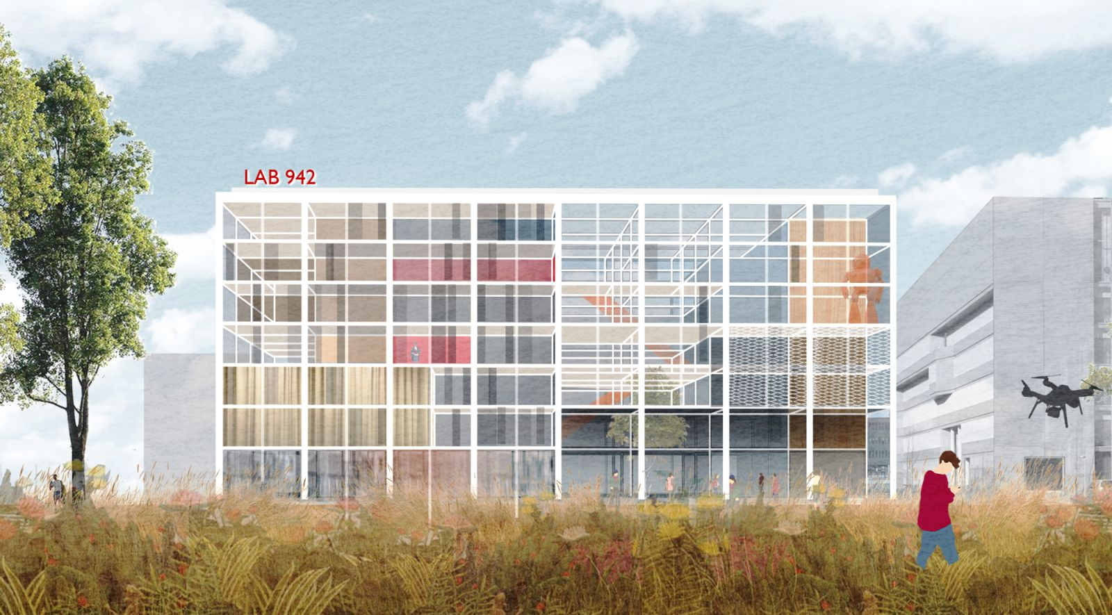multifunctional building of the University of Amsterdam