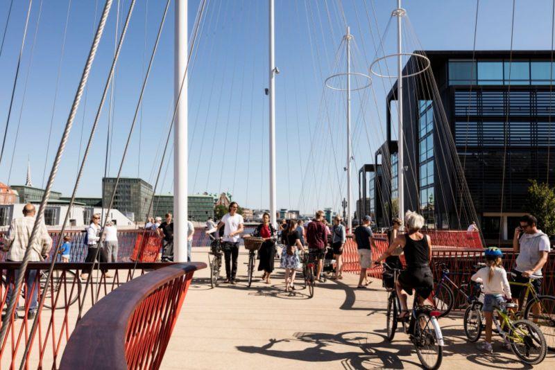 New bridge in Copenhagen harbour