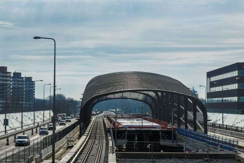 North/South Metro Link in Amsterdam
