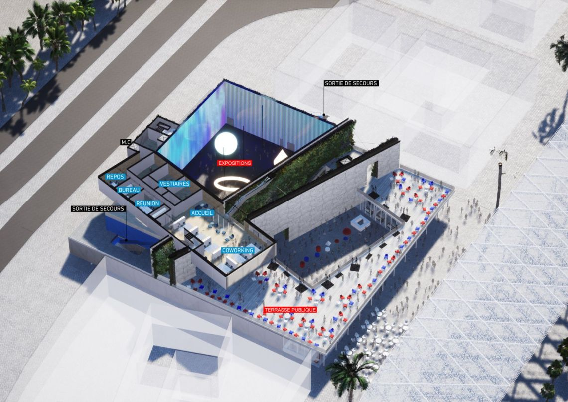 Pavilion france 2020 by clément blanchet architecture with etienne